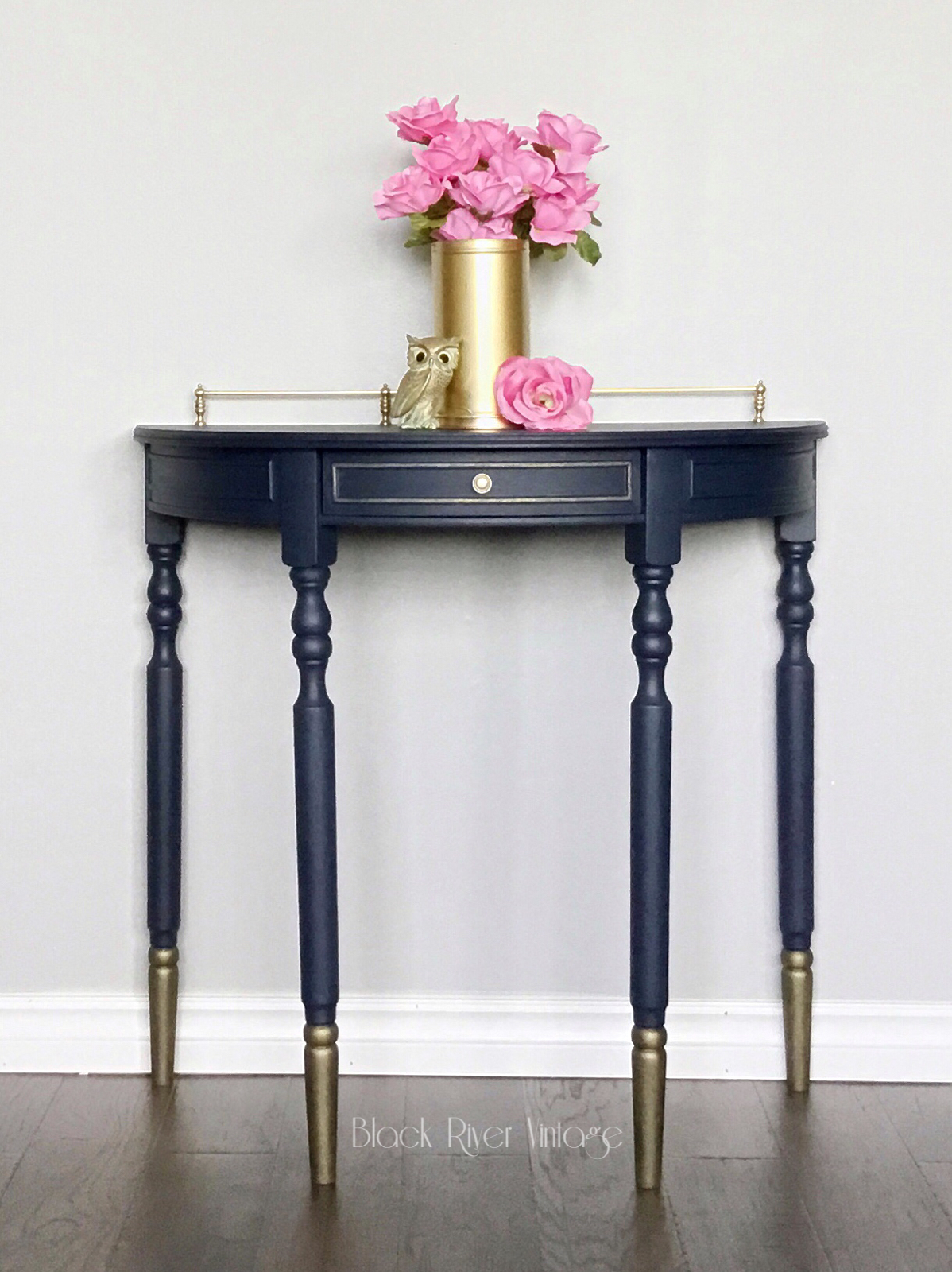 Sold Half Moon Console Table Painted In Fusion Mineral Paint S