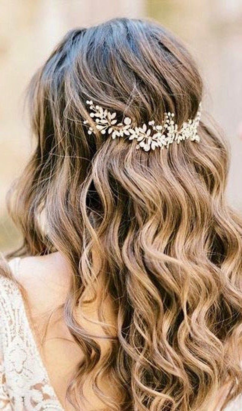 curtain fringe  Bridal hair vine, Hair vine, Bridal hair