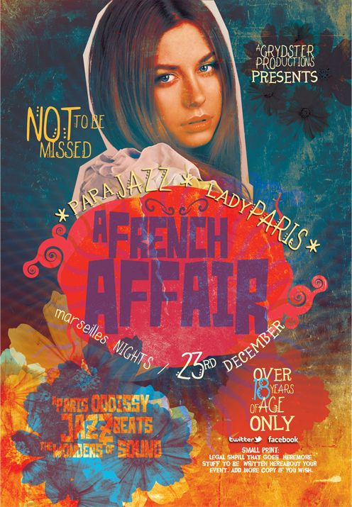 French Affair Flyer  Flyer Template Film Posters And Template