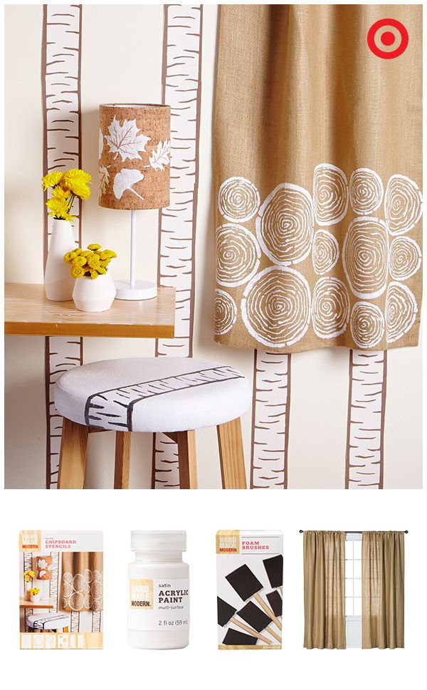 Add A Designer Touch To Walls Curtains Furniture And More Using Chipboard Stencils Acrylic Paint Foam Brushes It S Easy With Hand Made Modern Craft