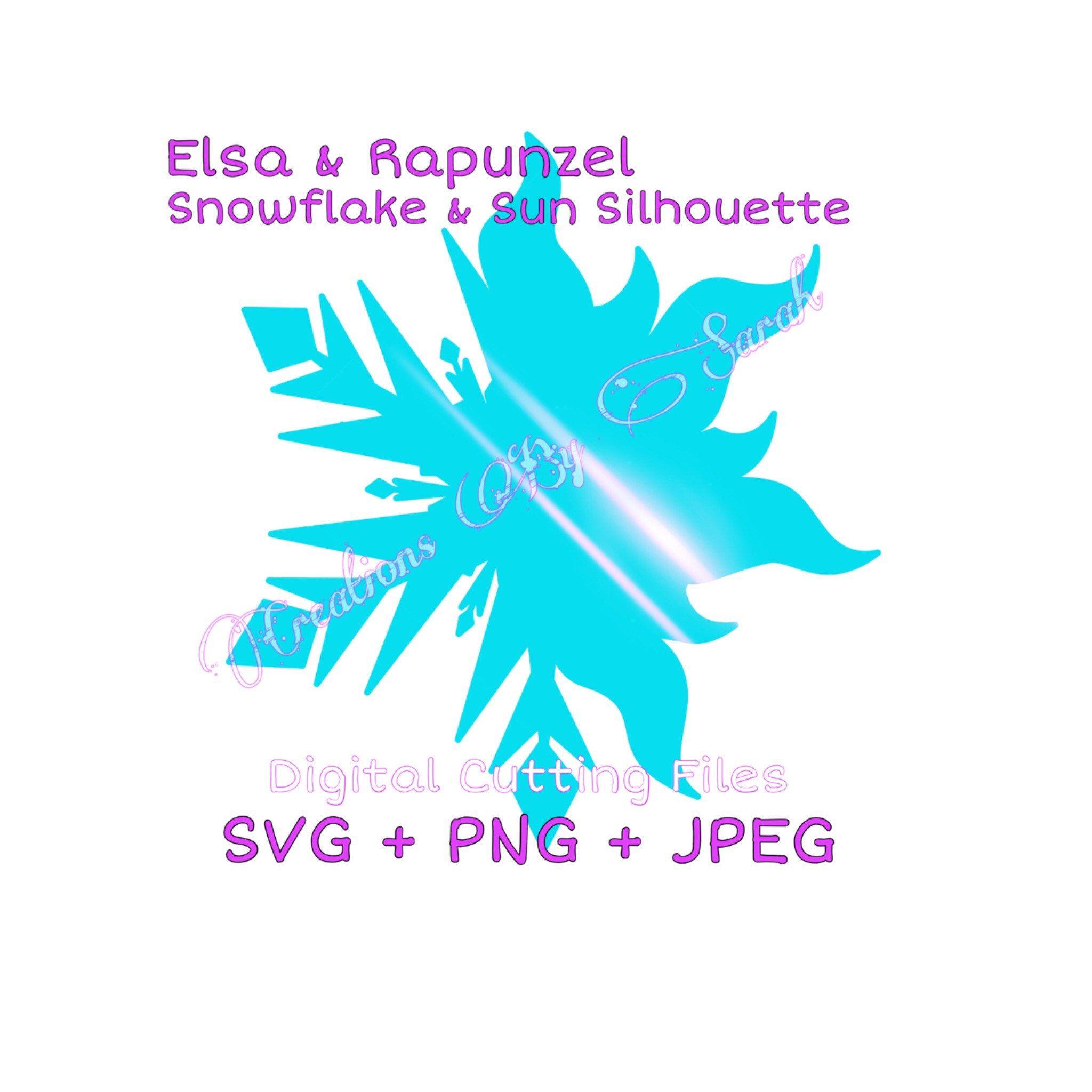 Frozen Tangled Snowflake Sun Silhouette Frozen Tangled