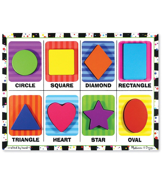 Melissa Amp Doug Shapes Chunky Puzzle