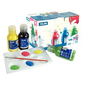 Milan Poster Colour Paints Pack 6 Poster Color Painting Kids Gift Guide Stationery