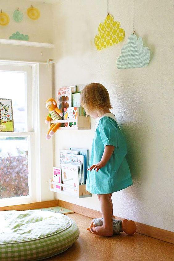 Preparar el rincón de lectura en la habitación infantil CASA - rincon de lectura