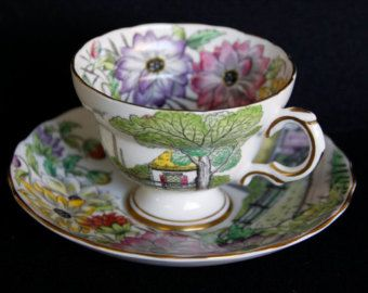 Queens GRANDMOTHER Tea Cup and Saucer Rosina by TeacupsAndOldLace