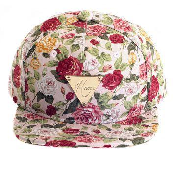 b812687d07b85 Boné Hater Snapback Pink Rose Bone Floral