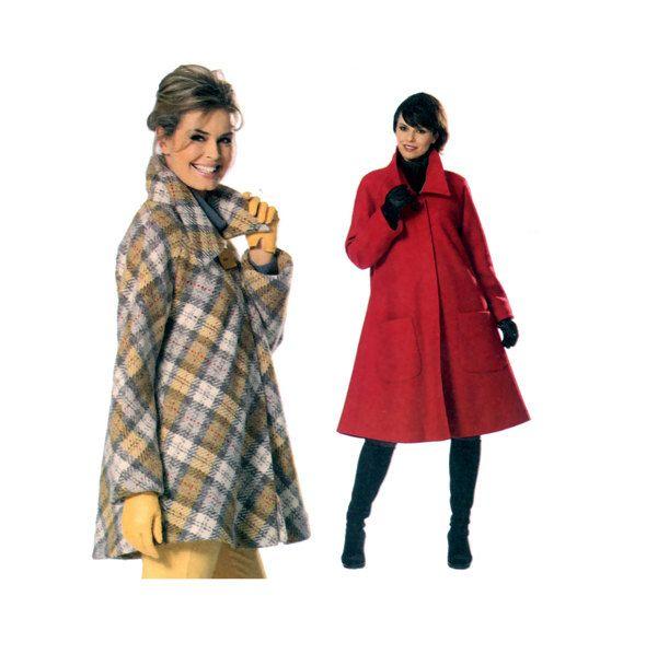 2000s COAT PATTERN Jacket Pattern Swing Coats Jackets Modern Winter ...