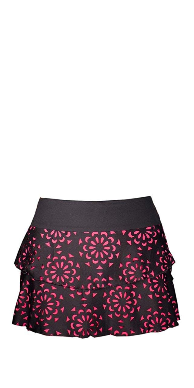 Miaflor Laser Cut Flounce Skirt - CS188UL8HKR - Sports & Fitness Clothing, Women, Skorts  #Skorts #S...