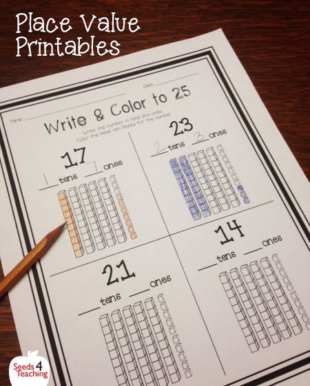 place value worksheets for first and second grade back to school place values kindergarten. Black Bedroom Furniture Sets. Home Design Ideas
