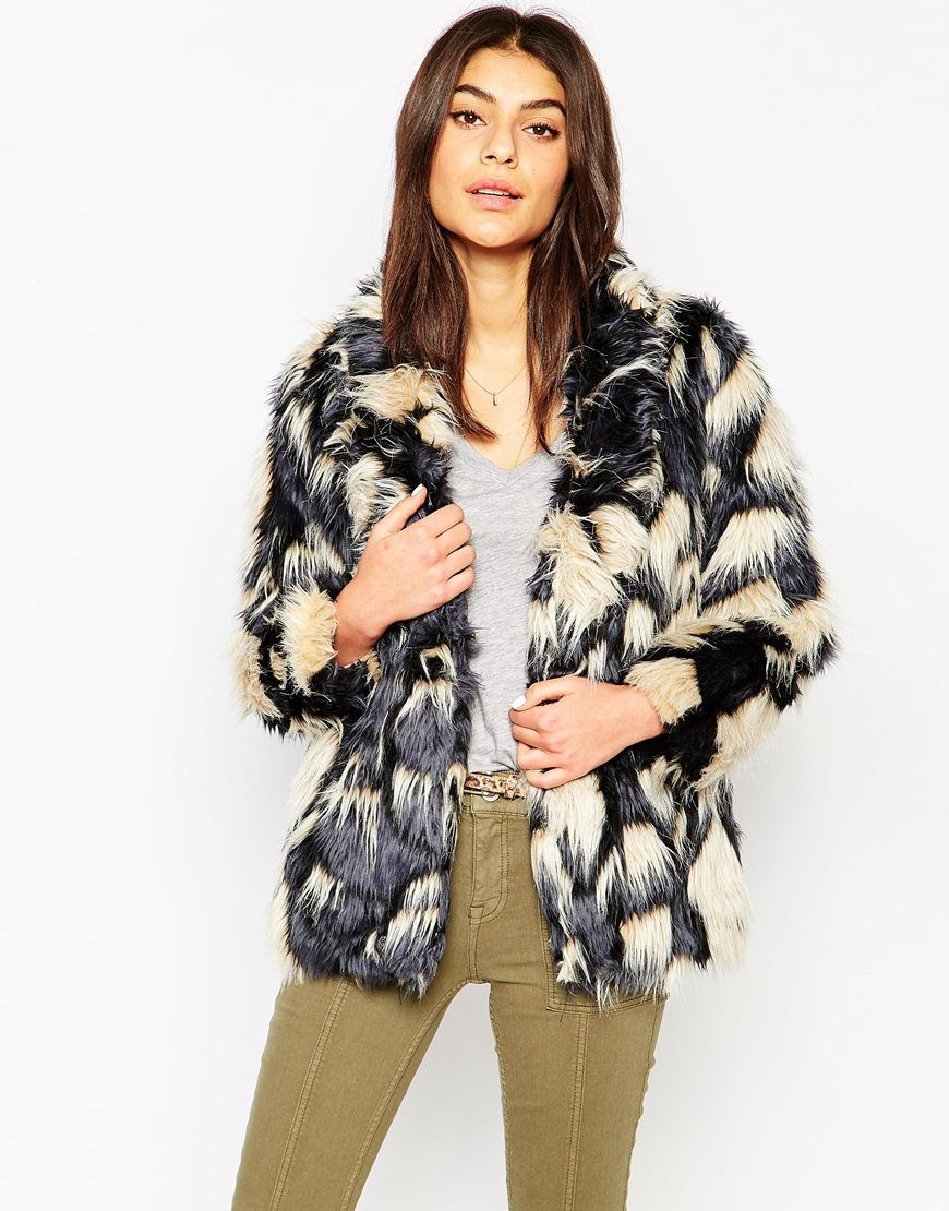 Glamorous Fluffy Coat Design Open Faux Super By Heavyweight Fur z4qWwFCqf