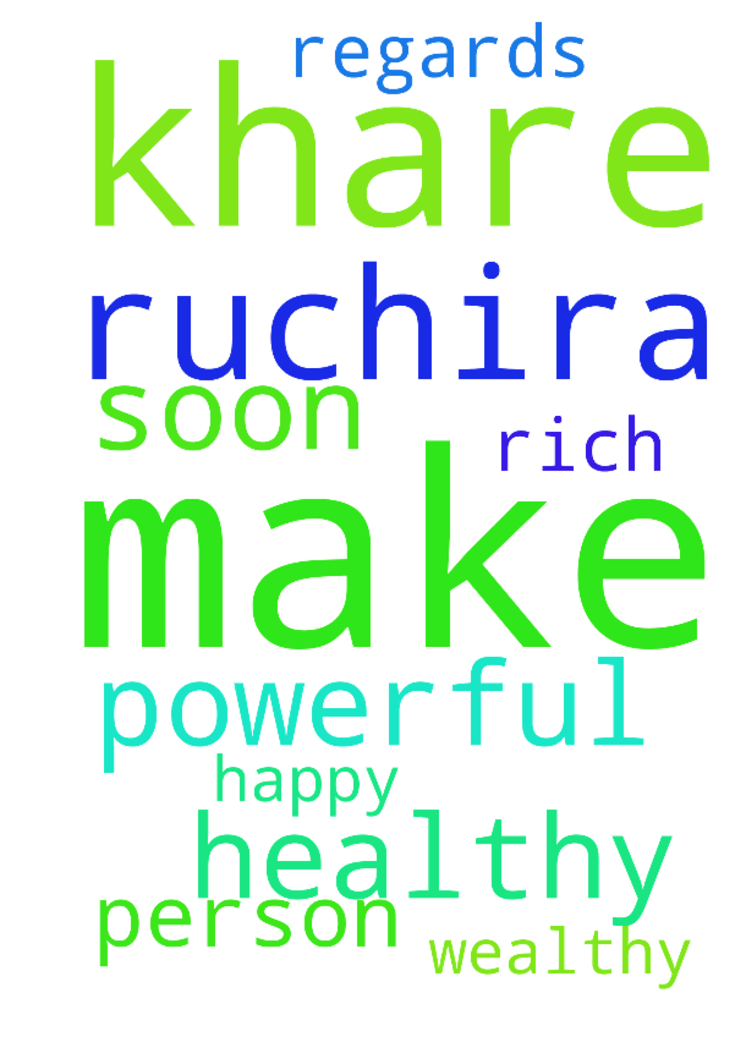 O God! Please make Ruchira Khare a very - O God Please make Ruchira Khare a very rich, powerful, healthy, wealthy and a very happy person soon. Regards Posted at: https://prayerrequest.com/t/nkC #pray #prayer #request #prayerrequest