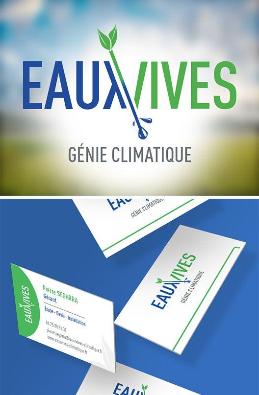 Creation Du Logo Pour Eaux Vives Entreprise De Plomberie Ainsi