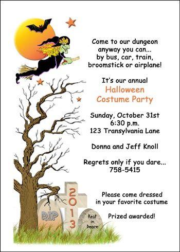 halloween costume invitations at invitationsbyucom - Halloween Invitation Verses