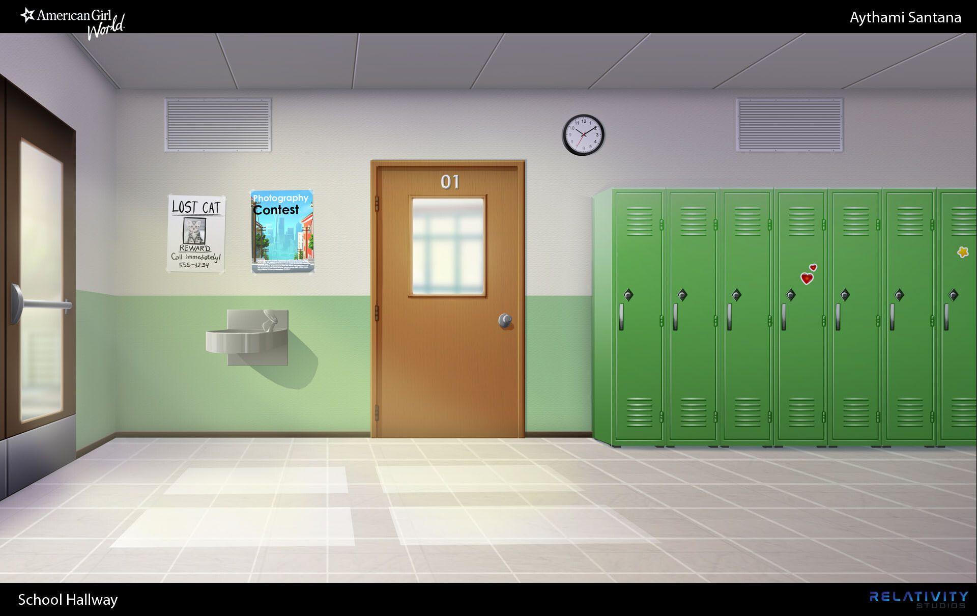ArtStation American Girl World School Hallway, Aythami