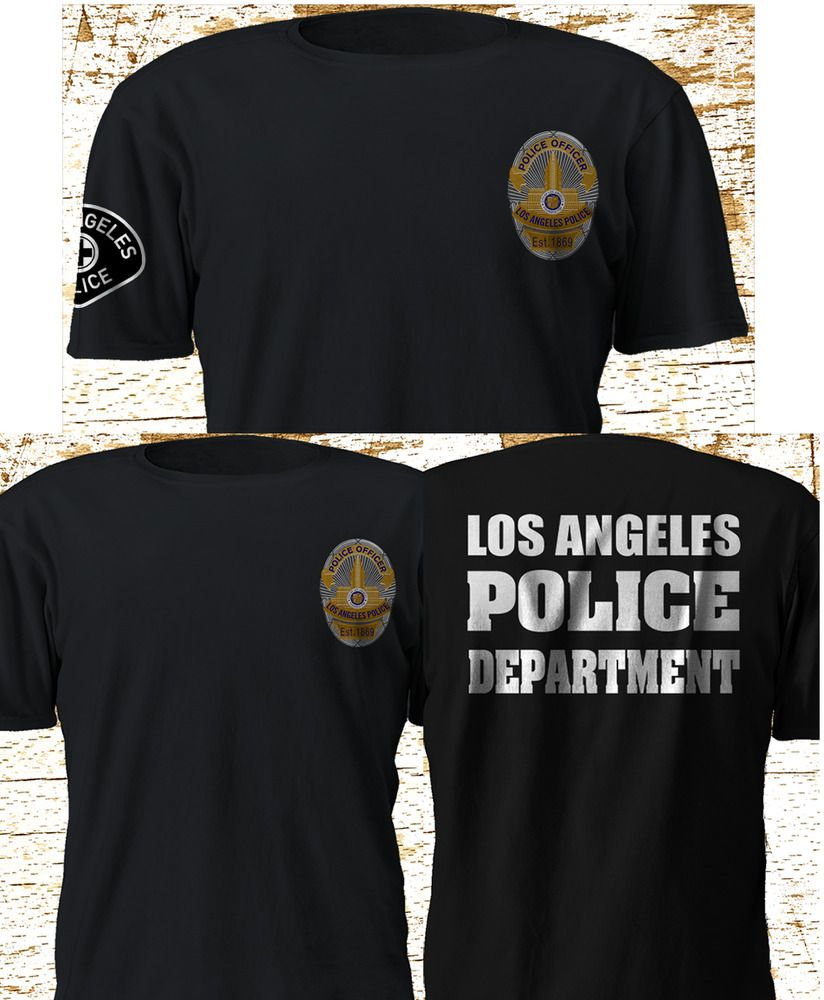 New LAPD Los Angeles Police Department SWAT Black T-Shirt S