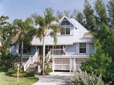 Key West Style House Plans | Key West Island Style (HWBDO05898) | Cottage  House