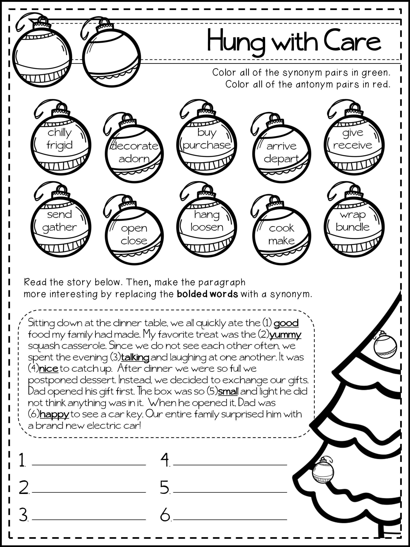 December Language Printables Tis The Season To Grammar