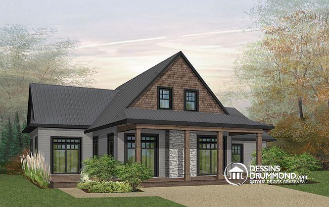W3914-V5 - Superbe maison genre chalet, grande chambre des maîtres - liste materiaux construction maison