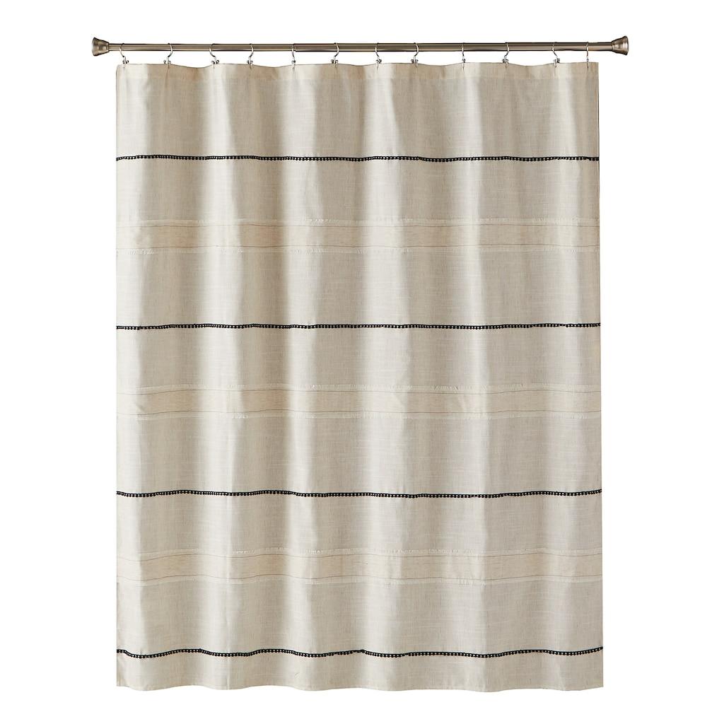 Saturday Knight Ltd Frayser Shower Curtain Beig Green 70 X72