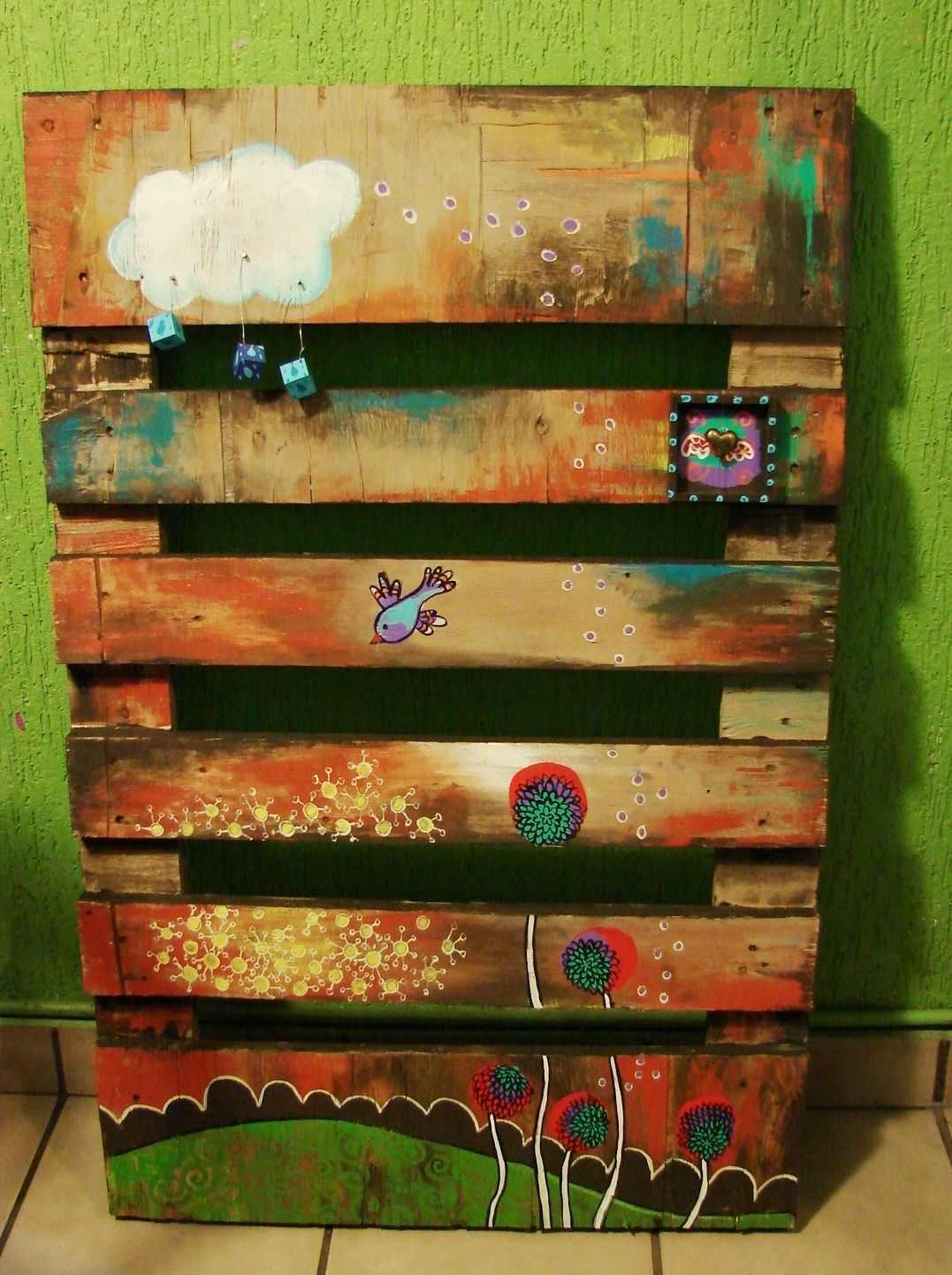 Painting on a pallet