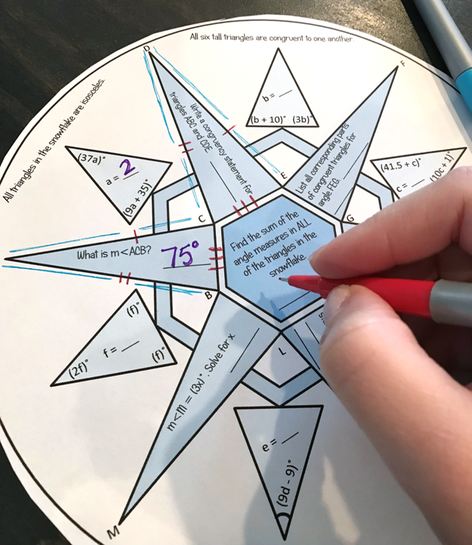 Christmas Math - Geometry Snowflake for Congruent Triangles ...