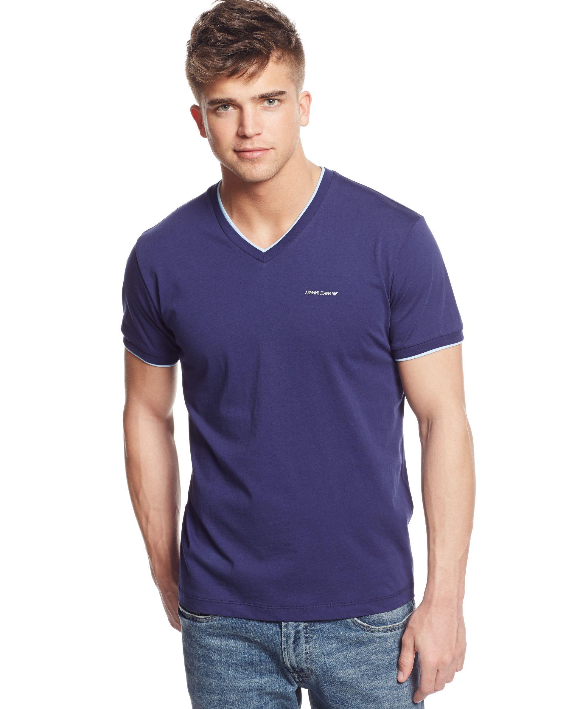 armani jeans v neck t shirt