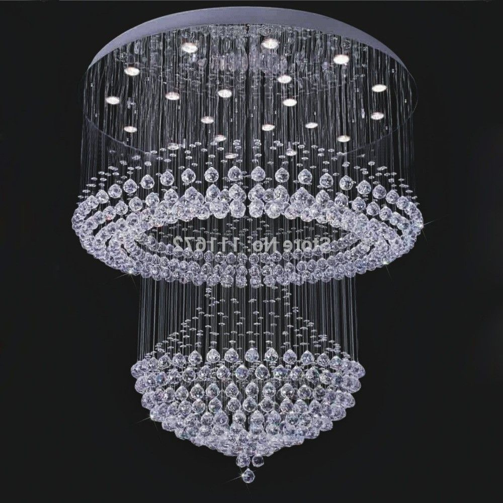 Large Chandeliers For High Ceilings Lamp World Modern Crystal