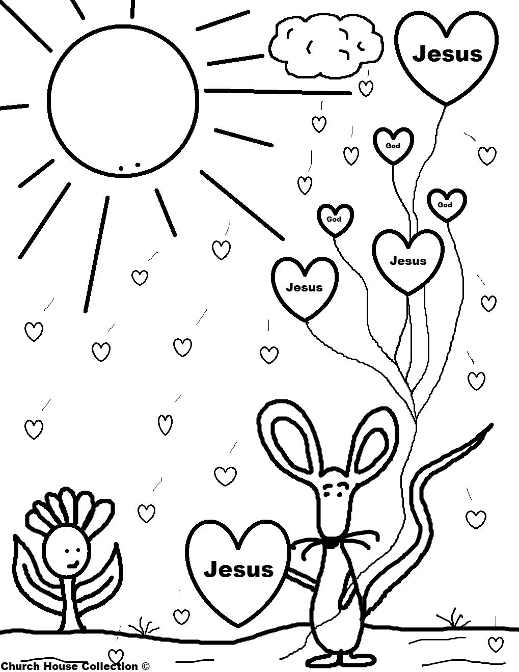 Church House Collection Blog Valentine Mouse Holding Jesus Balloons Coloring Page Valentine Coloring Pages Valentine Coloring Valentines Day Coloring Page
