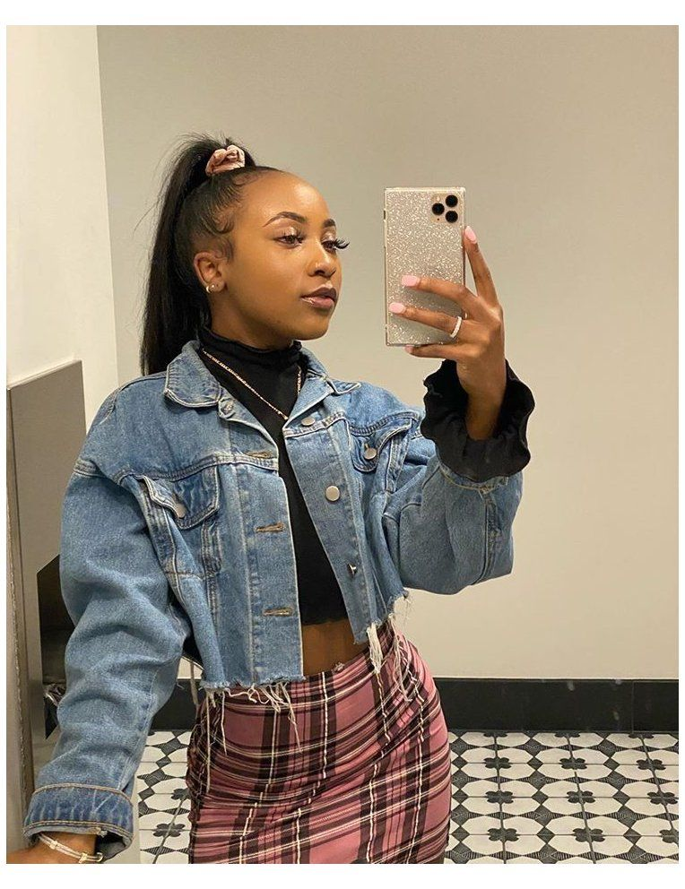denim jacket outfit black girl