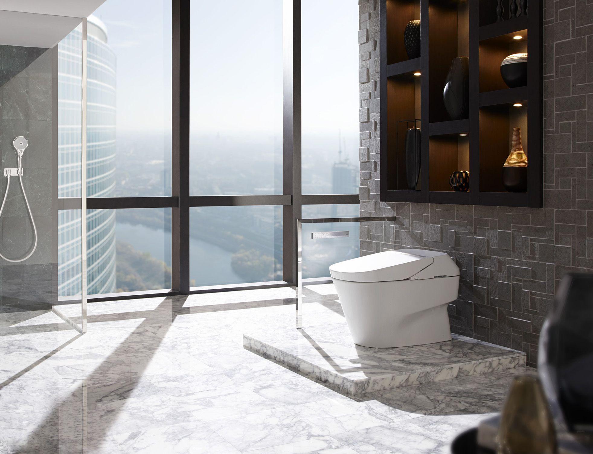 Marvelous Badezimmer Design By Toto Mit Boden Bis Zur Decke Windows 10 Erstaunliche Bad Design Von Toto Kinderbett Dream Bathrooms Smart Toilet Toto Toilet