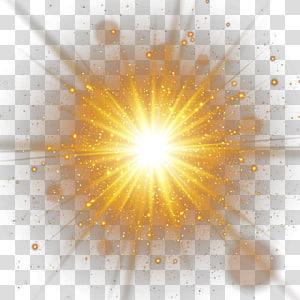 Sunlight Luminous Efficacy Light Effect Of Decorative Gold Spot Yellow Star Illustration Transpa Transparent Background Star Illustration Mirror Illustration