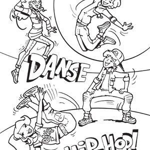 Coloriage danse hip hop auchanetmoi coloriage hip hop - Coloriage de danse ...