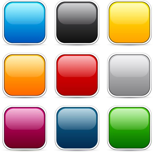 App button icons colored vector set 19 Картинки, Иконки