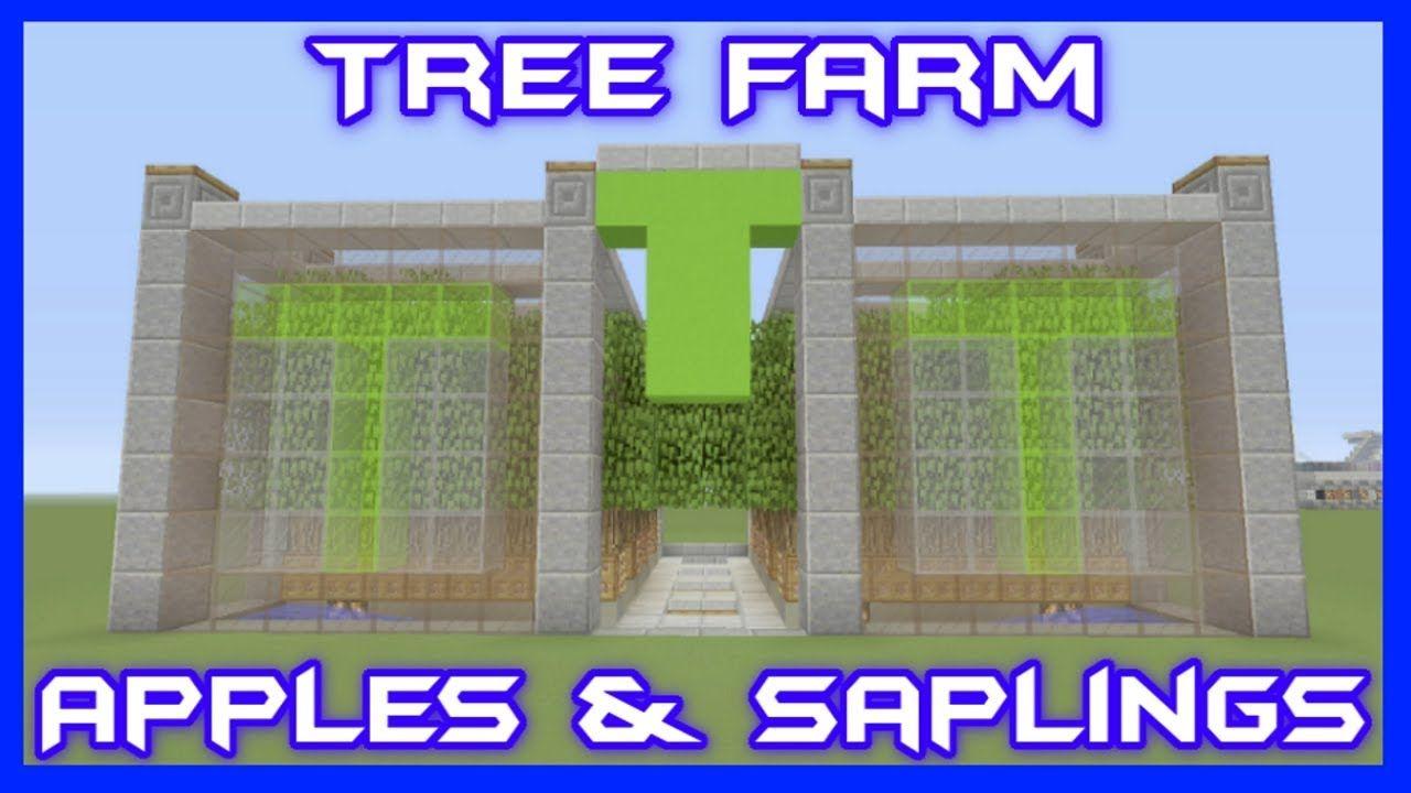 Oak Leaves Saplings Apple Tree Farm Bedrock Edition With
