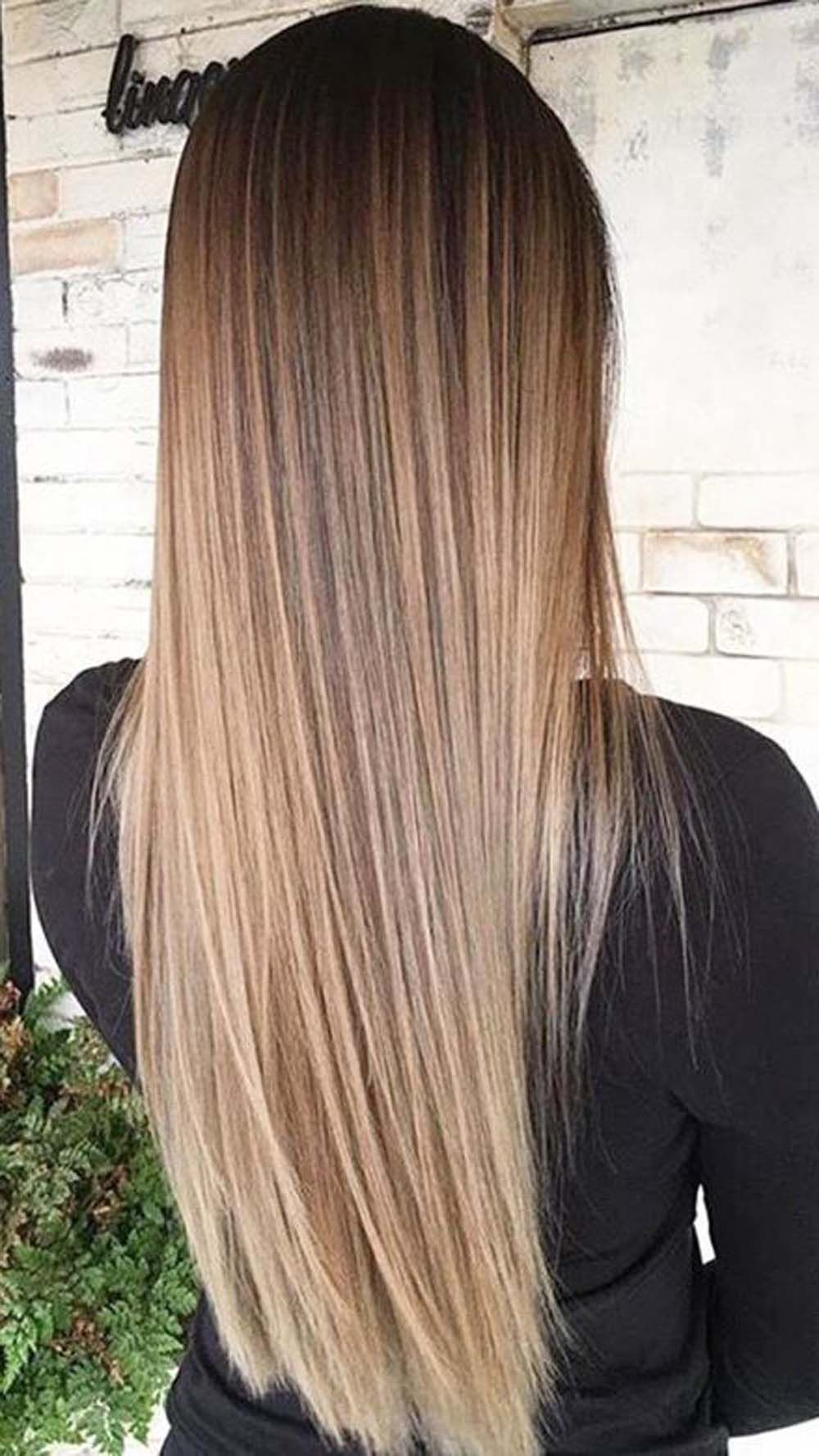 6 Delectable Looking Two Tone Hair Colors For The Brunettes Hair Styles Long Hair Styles Brown Blonde Hair
