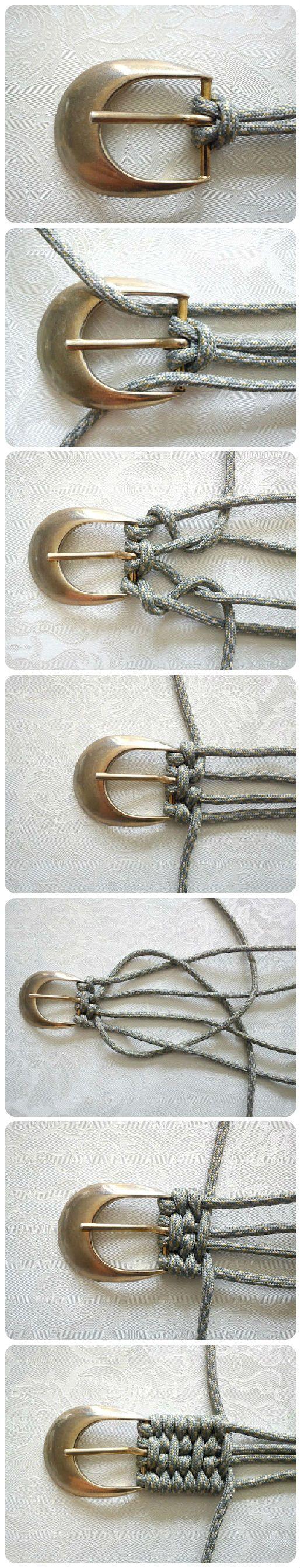 Tutorial for weaving a belt //Manbo