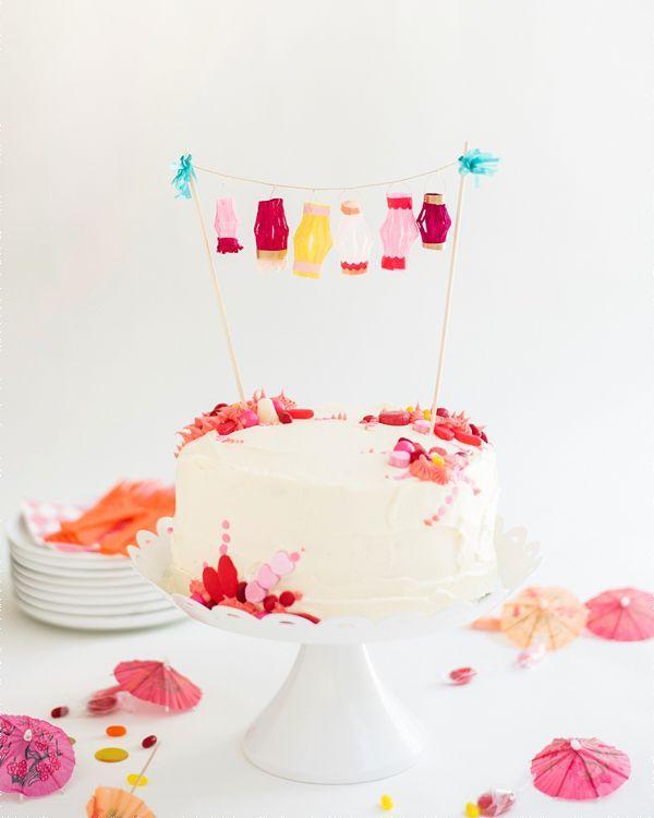 Tiny Paper Lanterns Too Cute Mini Cake Topper