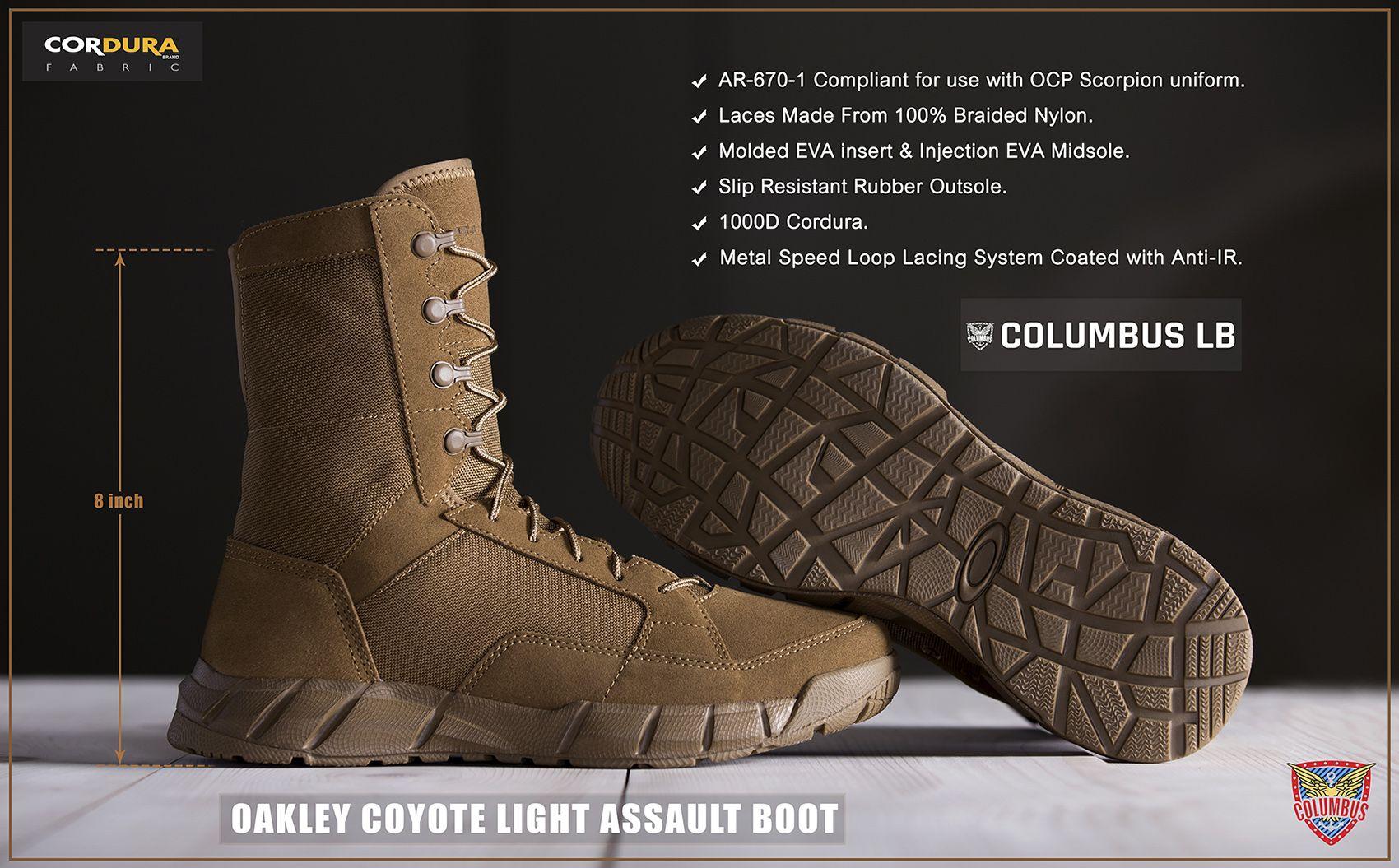 Oakley Coyote Light Assault Boot Oakley Military Boot Coyote Cordura Columbus Columbuslb Columbuslebanon Tripoli Lebanon Boots Combat Boots Oakley