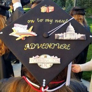 6d92ebb9a25 On to my next adventure - Washington DC - grad cap decorated  SUUGrad
