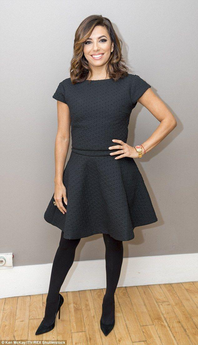 Eva Longoria Insists Victoria Beckham Smiles And Laughs A Lot Style By Rachel Georgina Pinterest Opaque Tights Eva Longoria And Tvs