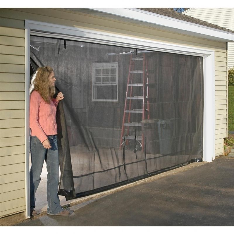 diy double garage screen door