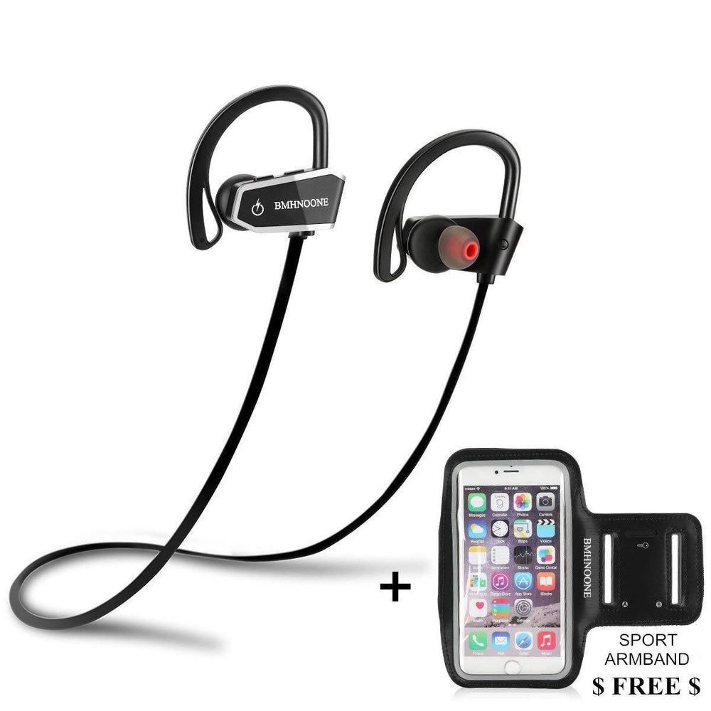 c5d3f61b67e Bluetooth Headphones Earphones Earbuds Stereo Waterproof IPX7 with Armband  Free #Unbranded