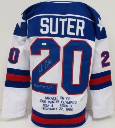 Bob Suter Autographed Olympic Jerseys Usa Hockey Olympic Hockey Hockey