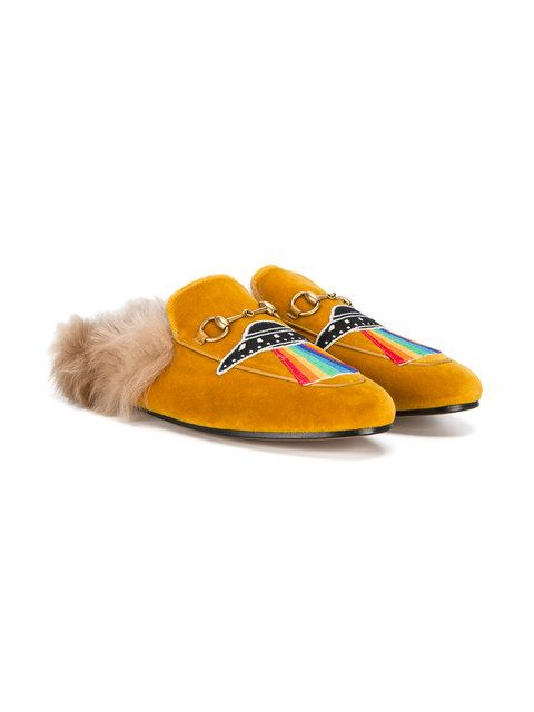 16664dd9647 Gucci UFO Embroidered Princetown Slippers in 2019 | My Style ...