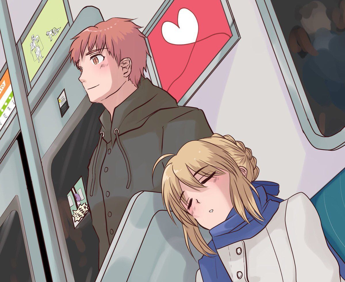 Saber And Shirou Returning Home Source Https Twitter Com