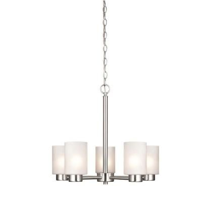 Westinghouse Sylvestre 5-Light Brushed Nickel Chandelier-6227400 at The Home Depot. 117.00. Dining area
