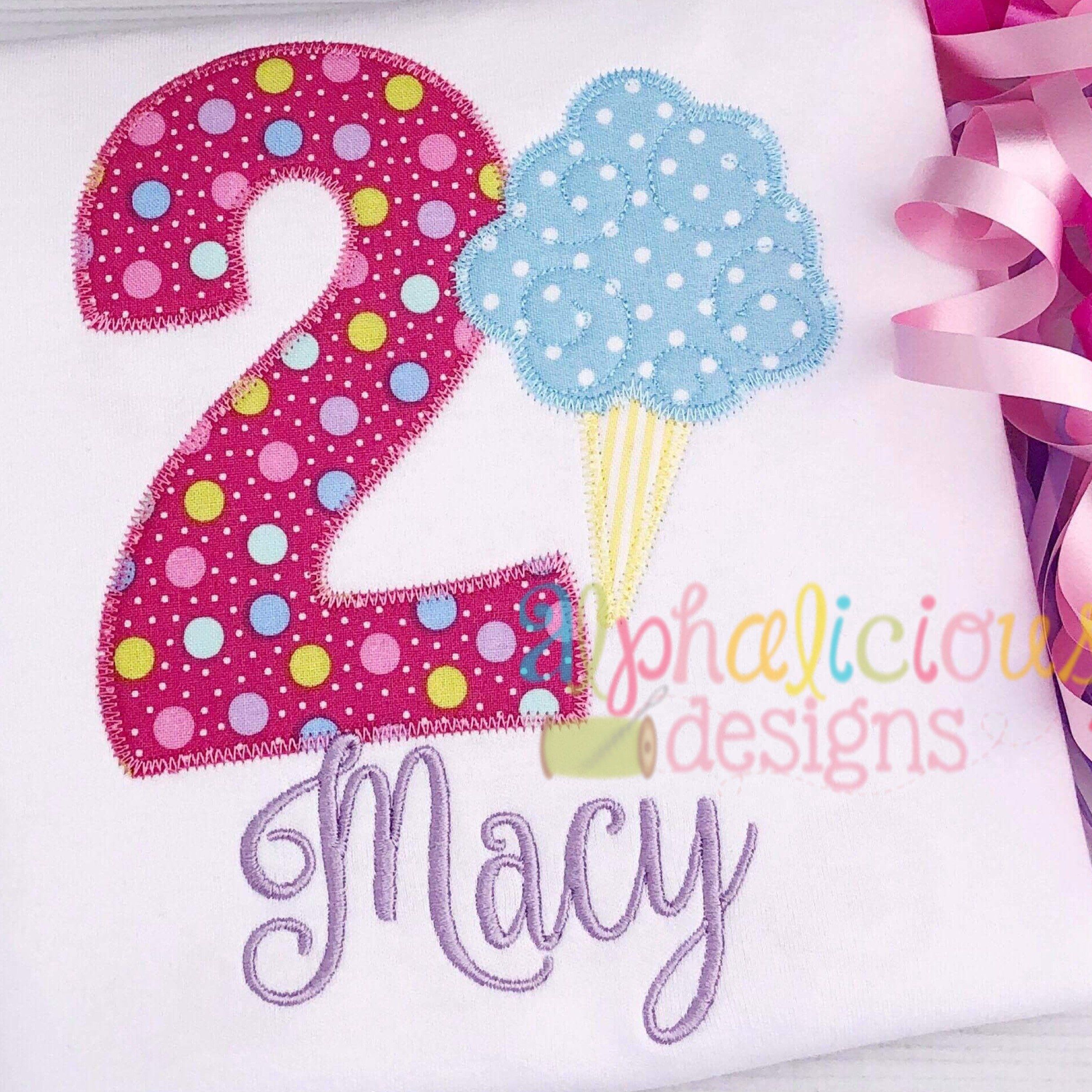 Celebration numbers zigzag embroidery u applique files