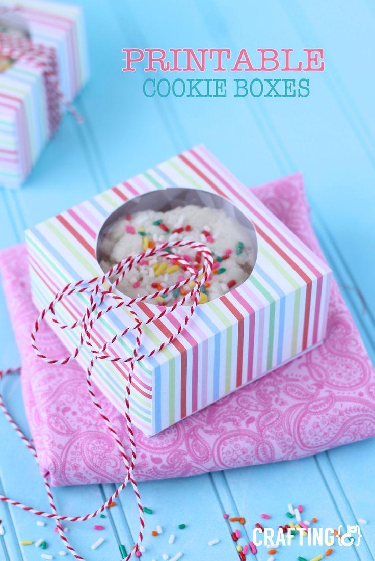 PRINTABLE cookie boxes | Fun gift box! Paper Plate ...  sc 1 st  Pinterest & PRINTABLE cookie boxes | Fun gift box! | Gift ideas | Pinterest ...