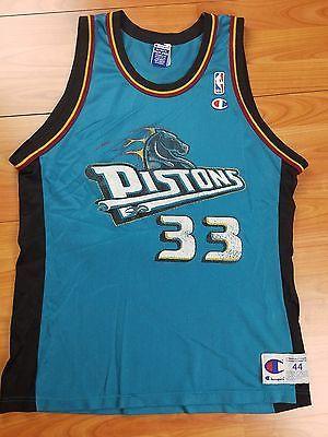 meet 374d1 d746d VTG Men's Champion NBA Detroit Pistons Grant Hill #33 Jersey ...