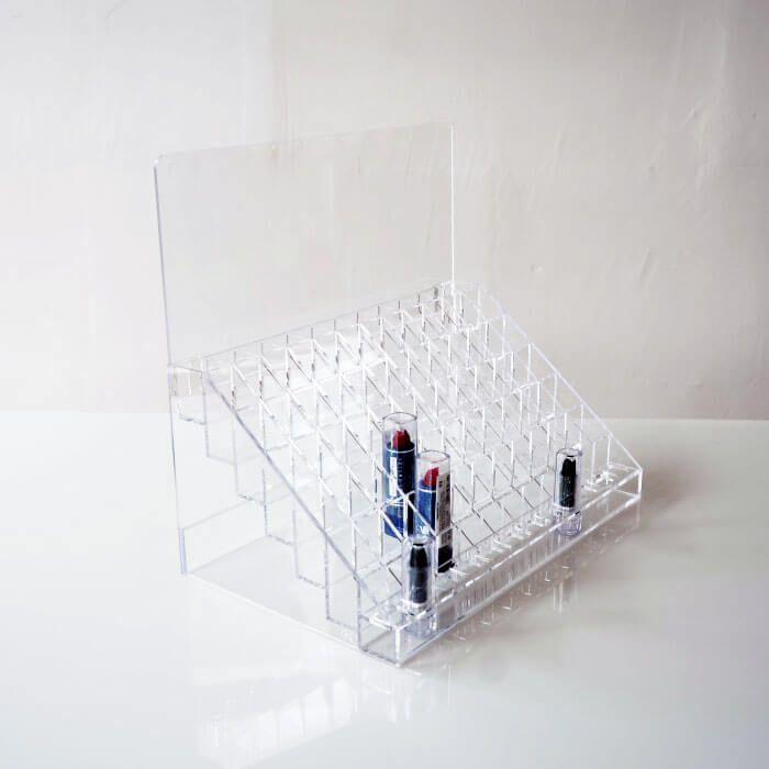Lipstick Display Rack Display Cast Acrylic Sheet Cosmetic Display